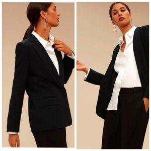 ARITZIA TALULA BABATON Luxury Black Blazer